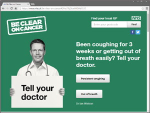 Be Clear on Cancer website