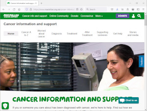 Macmillan website