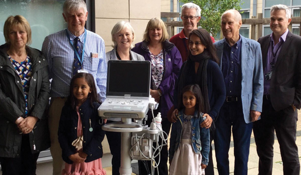 The presentation of a new scanner to the Churchill Urology Department in memory of Nilay Patel